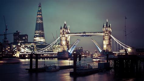 tower bridge night lights london  desktop wallpaper