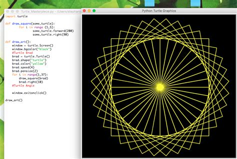Drawing A Spiral In A Spiral Using Python Turtle