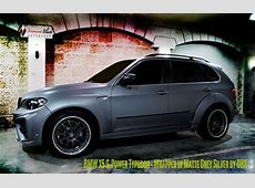 BMW X5 GPOWER TYPHOON Wrapped in Matte Silver Grey
