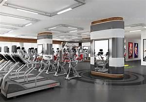 Fitness Centre interior 3D Design and Rendering India