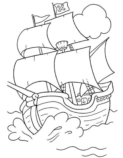 Imagenes De Un Barco Para Niños by Dibujos De Piratas Para Imprimir Simple Colorear El
