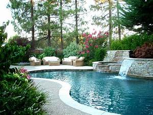 Backyard, Landscape, Ideas, With, Natural, Touch, For, Modern, Home, Exterior