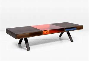 Gilroy coffee table with rosewood and colored italian for Coloured glass coffee table