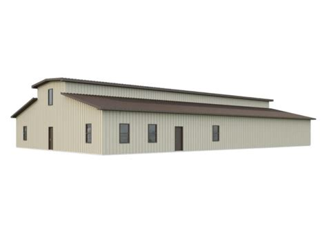 60x100 Barn Kit With Monitor Roof