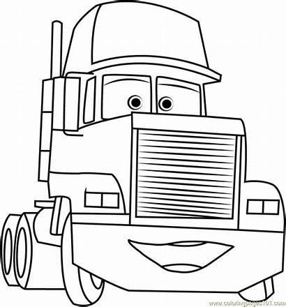 Mack Trailer Coloring Cars Pages Truck Mac