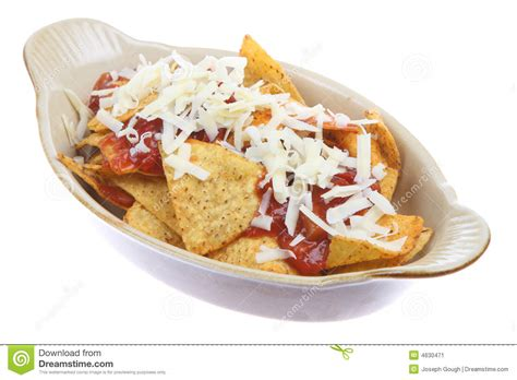 cuisine joseph nachos with salsa and cheese stock image image of