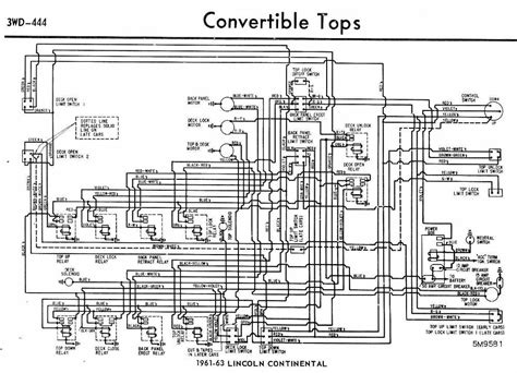 1959 Lincoln Wiring Diagram by Convertible Tops Wiring Diagram Of 1961 63 Ford Lincoln