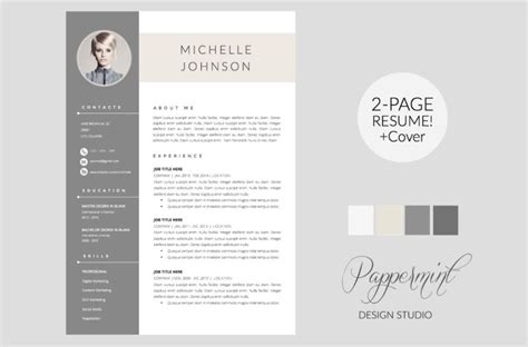 Two Page Resume Format Word by 20 Designer Resume Template Word Indesign Psd Template