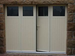 porte de garage sectionnelle avec porte fenetre pvc 4 With porte de garage 3 vantaux