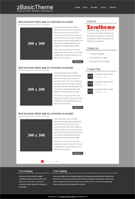html5 basic template free basic responsive html5 themes zerotheme