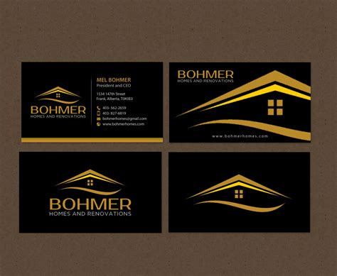 Home Design Builder by Bold Serious Home Builder Business Card Design For
