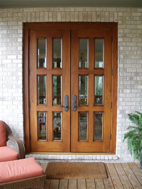 white wooden glass double french door frames for patio