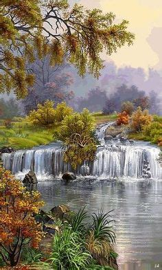 moving animation images waterfall moving picture