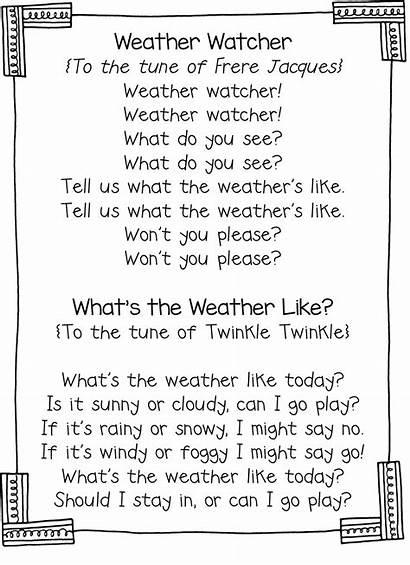 Calendar Weather Preschool Songs Kindergarten Interactive Song