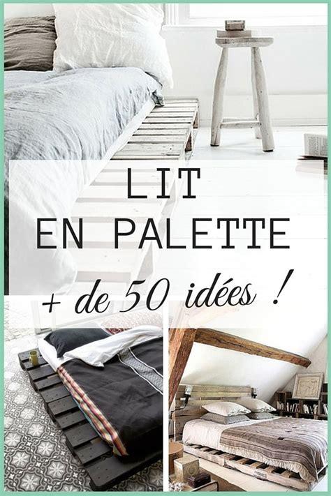 deco de chambre a faire soi meme lit en palette 50 idées pour fabriquer un lit en palette