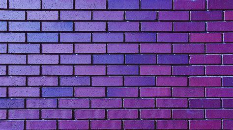 Download Wallpaper 2560x1440 Wall Brick Purple Texture