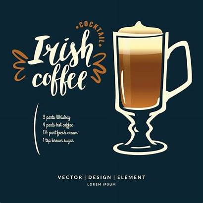 Irish Cream Clip Coffee Illustrations Vector Lettering