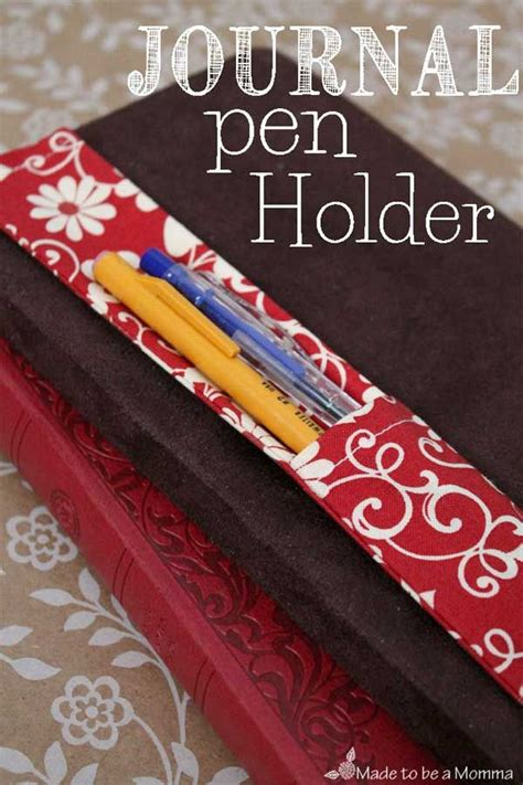 fabric journal  holder diy sewing projects sewing