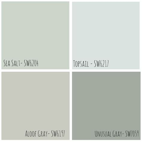 five on friday soft blue green from sherwin williams