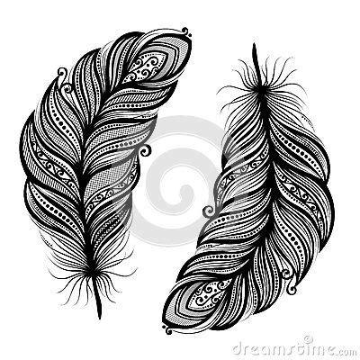 plume d oiseau dessin oiseau abstrait de plume motifs leaves and feathers