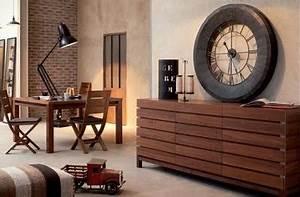 Meuble Bois Fer : monsieur meuble bureau meuble de salon contemporain ~ Melissatoandfro.com Idées de Décoration