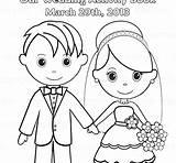 Groom Coloring Pages Bride Printable Getcolorings Wedding Easy Print sketch template