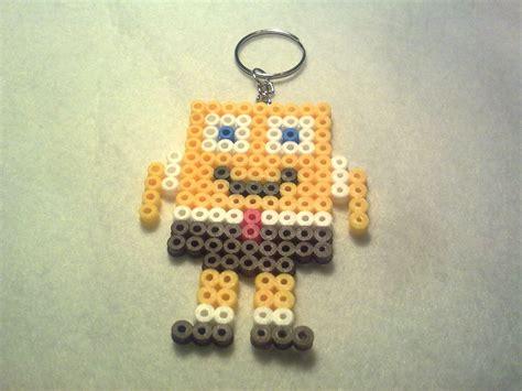 Spongebob Keyring Hama Beads By Complemtentos De Fieltro