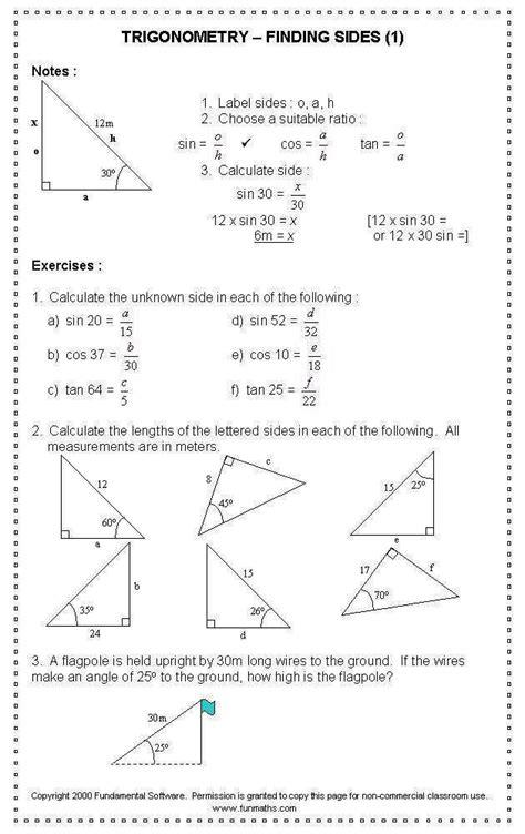Trig Equations Worksheet Homeschooldressagecom