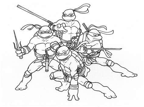 Free Coloring Pages Of 2019 Ninja Turtles