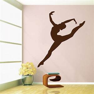Gymnastics girl wall decal trendy wall designs for Gymnastics wall decals