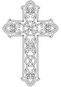 Ausmalbild: Keltisches Kreuz   Ausmalbilder kostenlos zum
