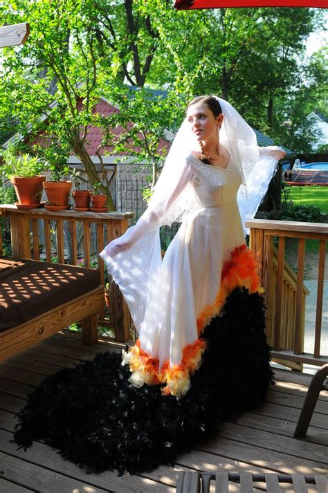 katniss mockingjay dress hunger wedding on