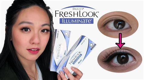freshlook illuminate best enhancing contact lens for asian brown