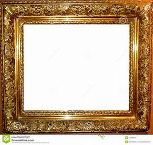 Vintage Antique Gold Frame stock photo. Image of photo ...