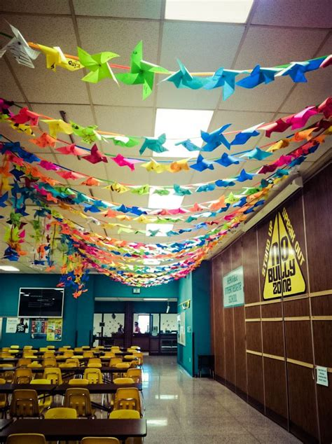 Decorated Hall Idea  Pinwheels! Would Be Great But Would