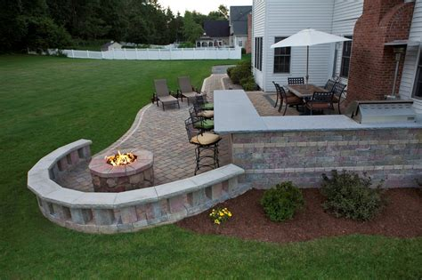 outdoor patio designs with pit fireplace design ideas