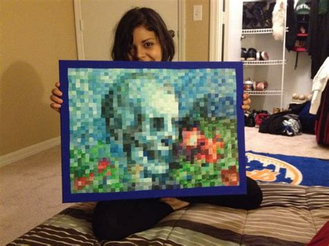 hand painted  game minecraft painting  real life