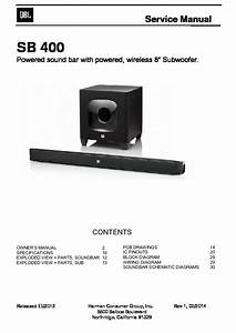 Jbl Sb 400 Service Manual  U2014 View Online Or Download Repair