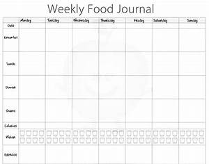 5 free food journal templates excel pdf formats With food diaries templates