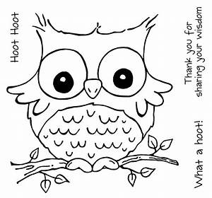Free cute cartoon owls coloring pages