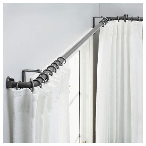 curtain rods ikea hugad curtain rod set for bay window ikea for the home