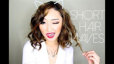 short hair waves youtube