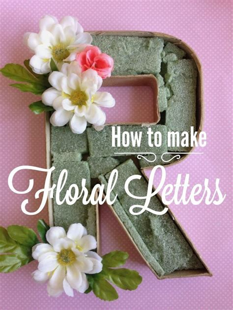 floral letters easy simple quick