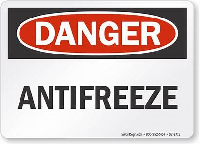 Waste Oil Signs Antifreeze Sign Labels Mysafetysign