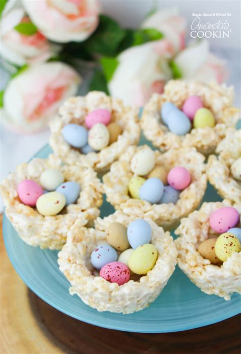 easter treat rice krispie nests a quick and easy no bake easter treat