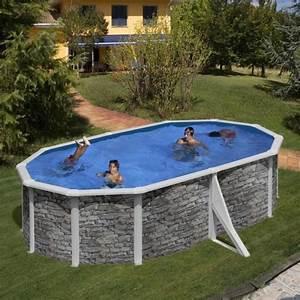 Hors Sol Pas Cher Piscine : piscine hors sol acier aspect pierre alto h 1 ~ Melissatoandfro.com Idées de Décoration