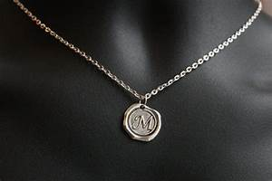 monogram necklace initial jewelry personalized by kapkadesign With mens letter necklace