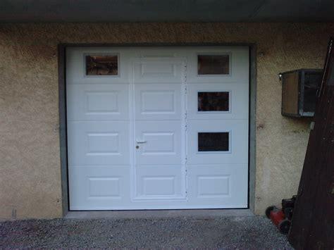 porte de garage sectionnelle avec portillon 224 bas prix 224
