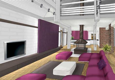 cuisine blanc et violet salon deco blanc chocolat prune et violet archi cochez