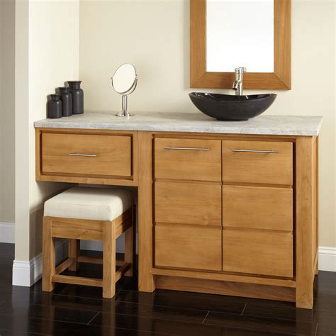 types  bathroom vanity  makeup area ideas